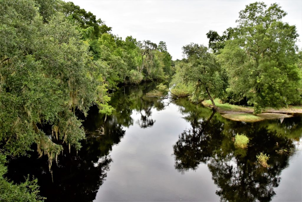 View of the Santa Fe River from the Union/Alachua Counties bridge